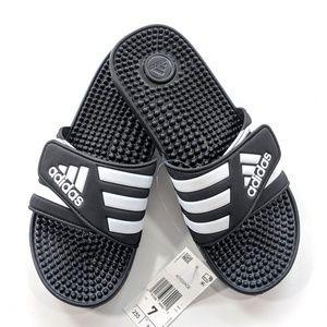 NEW Adidas Adissage Slides Black/White